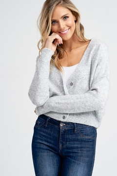 Jolie Long Sleeve Button Up Sweater - Product List Image