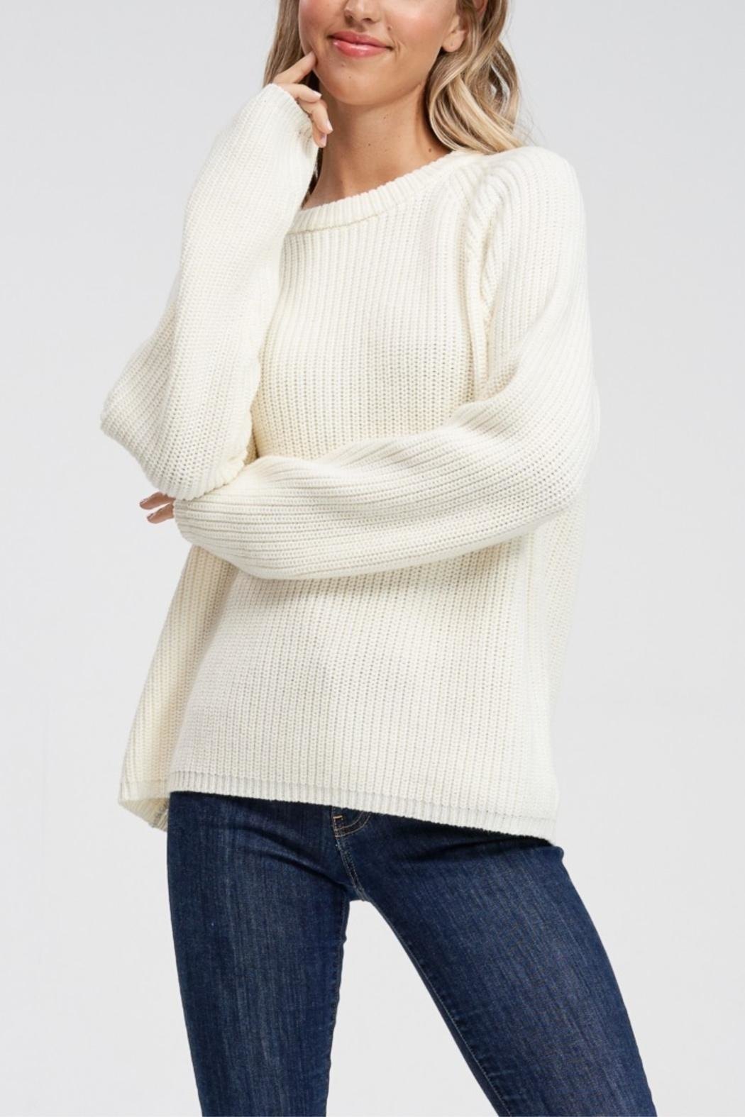 Jolie Long Sleeve Ribbed Sweater - Main Image