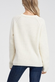 Jolie Long Sleeve Ribbed Sweater - Back cropped