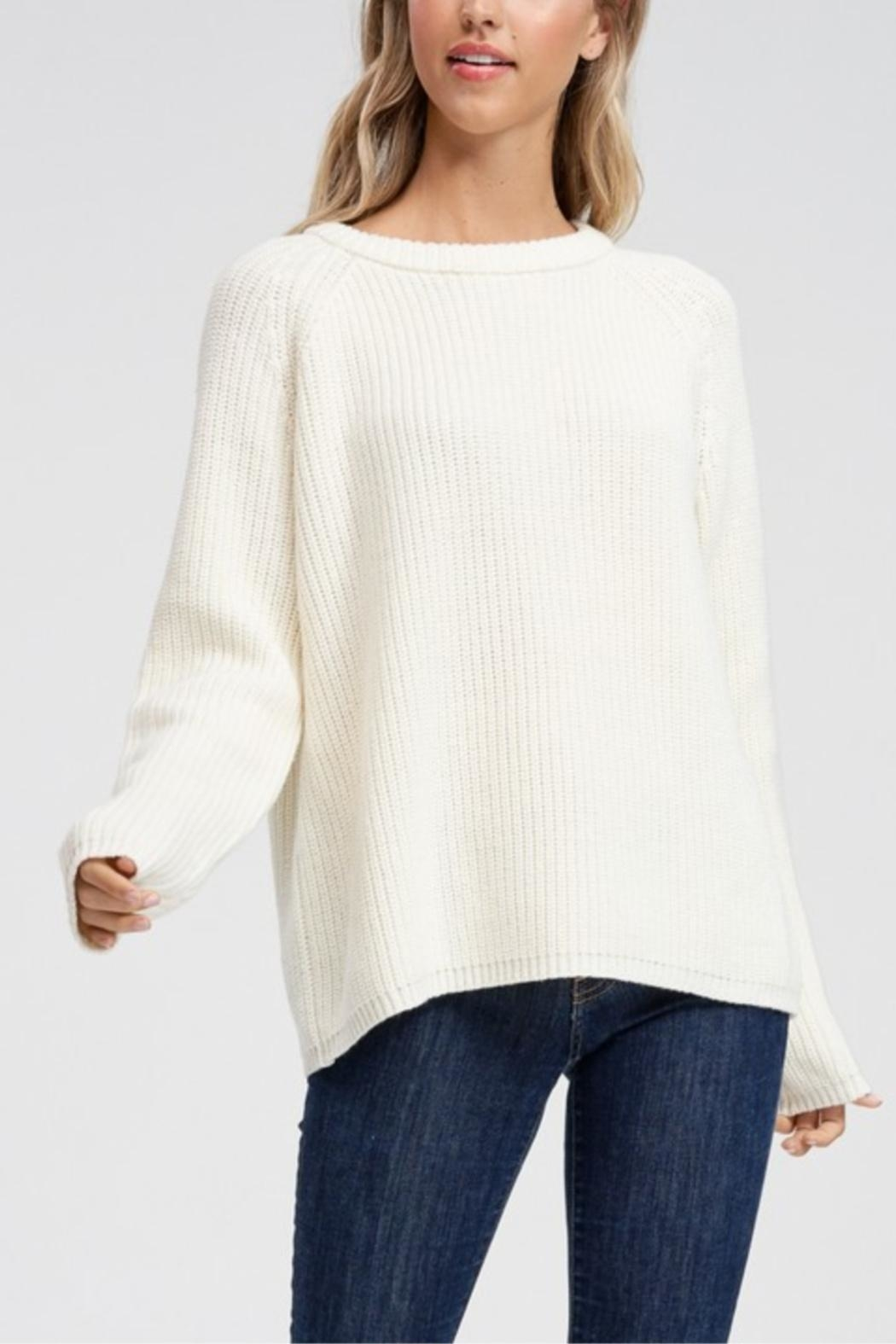 Jolie Long Sleeve Ribbed Sweater - Front Full Image