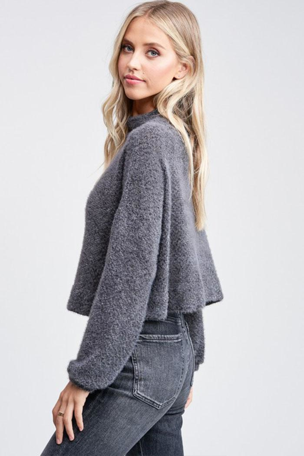 Jolie Mock Neck Sweater - Front Full Image