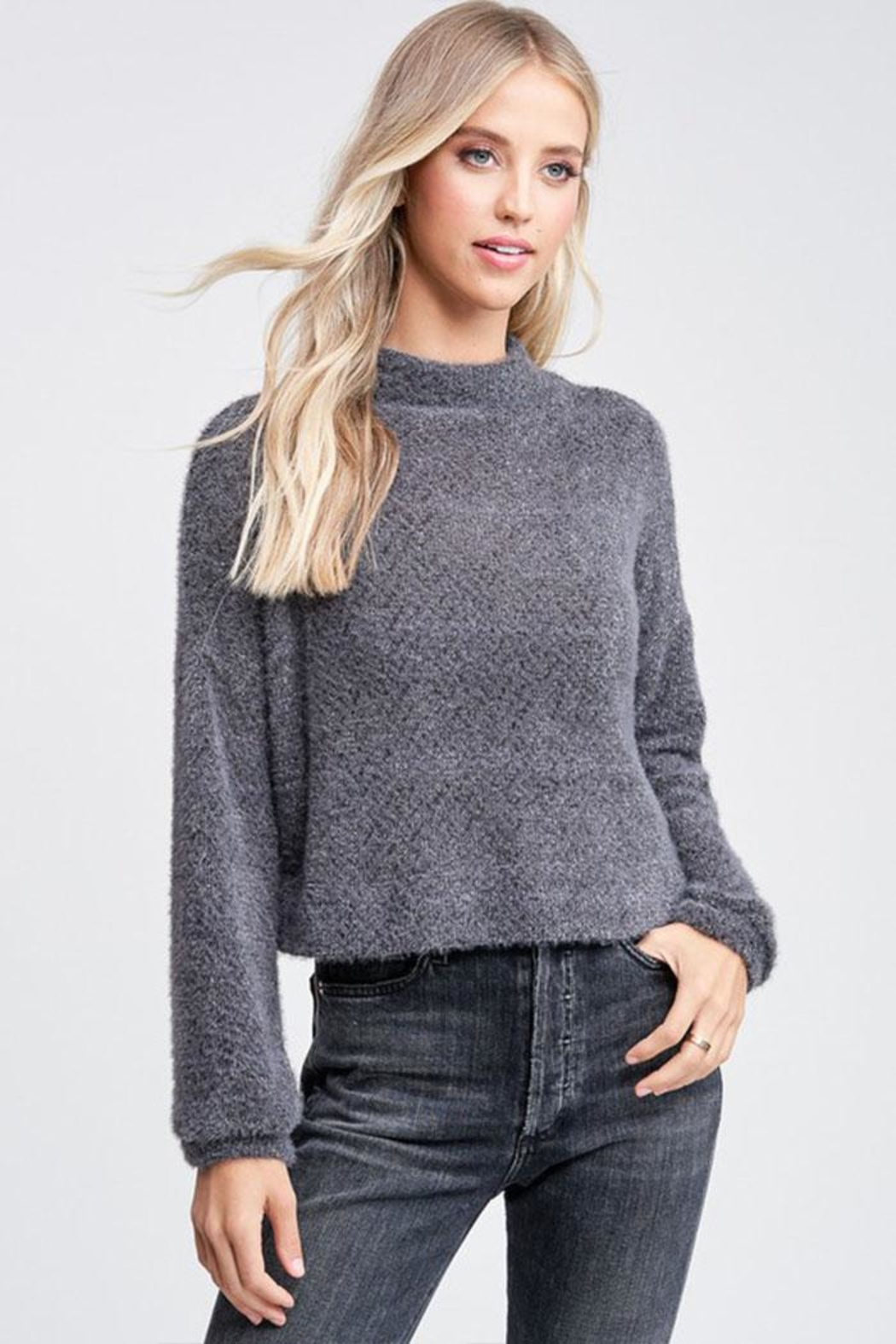 Jolie Mock Neck Sweater - Front Cropped Image