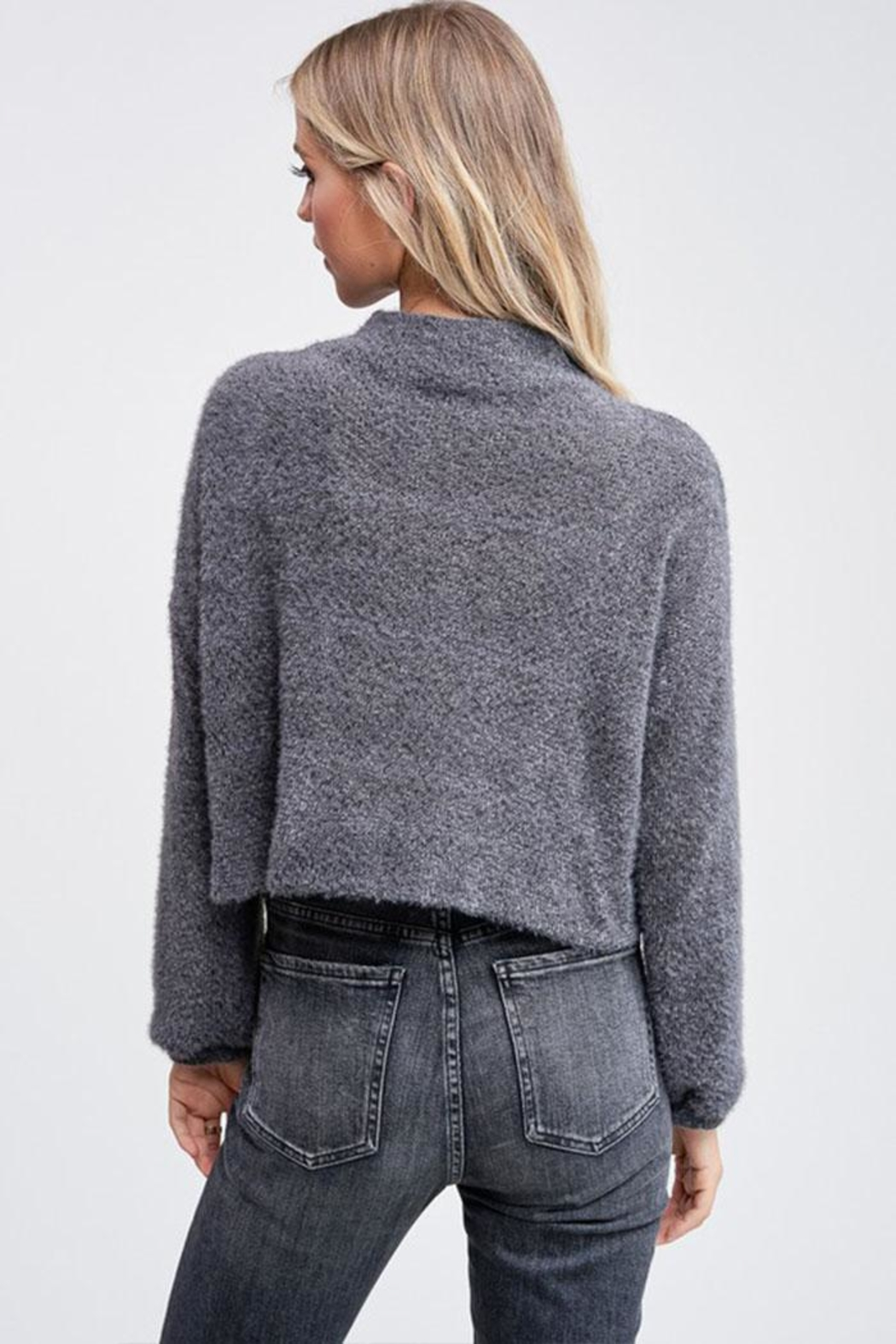 Jolie Mock Neck Sweater - Side Cropped Image