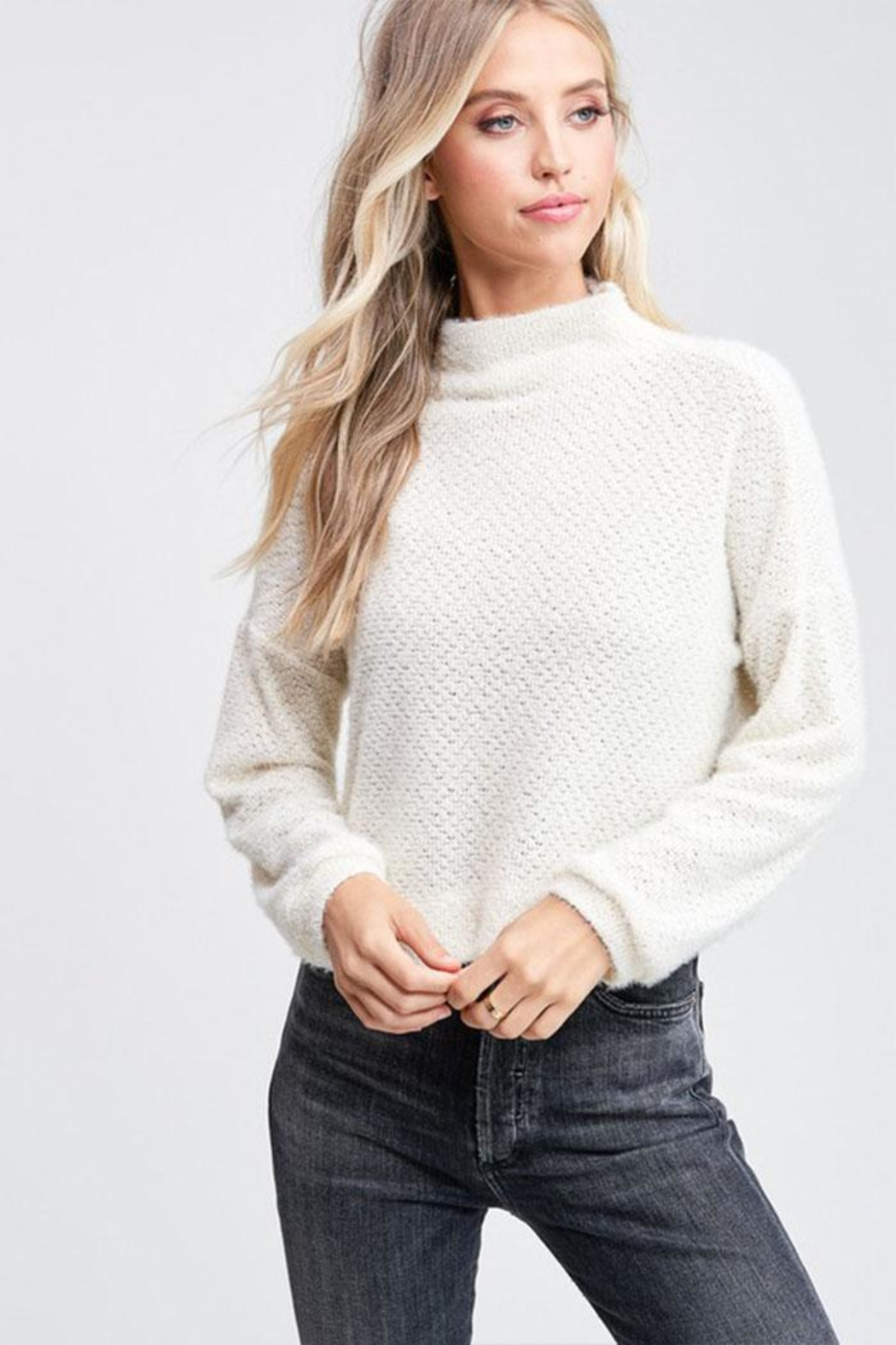 Jolie Mock Neck Sweater - Main Image
