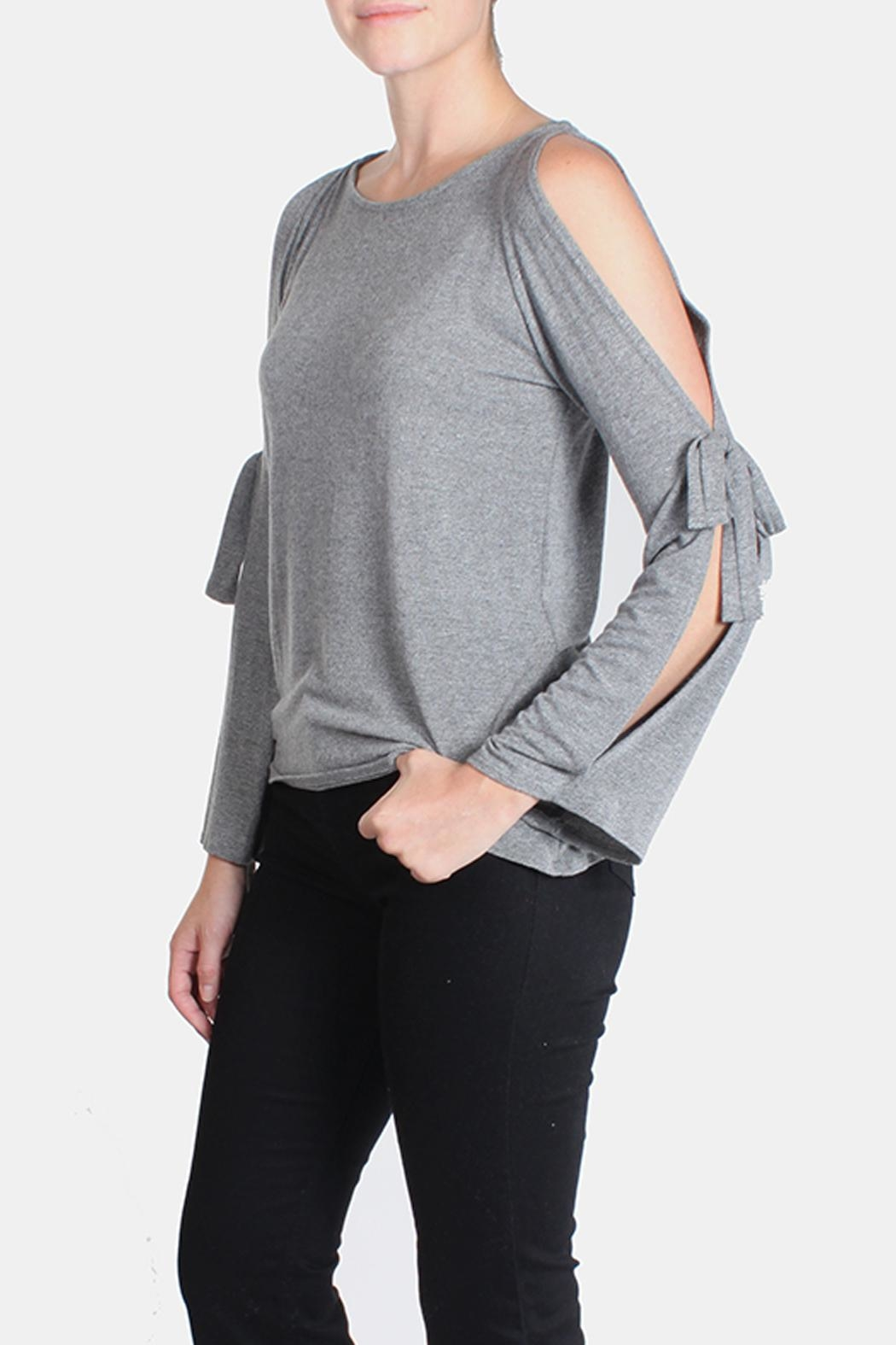Jolie Open Tie Sleeve Top - Front Full Image