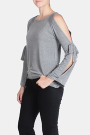 Jolie Open Tie Sleeve Top - Front full body