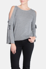 Jolie Open Tie Sleeve Top - Front cropped