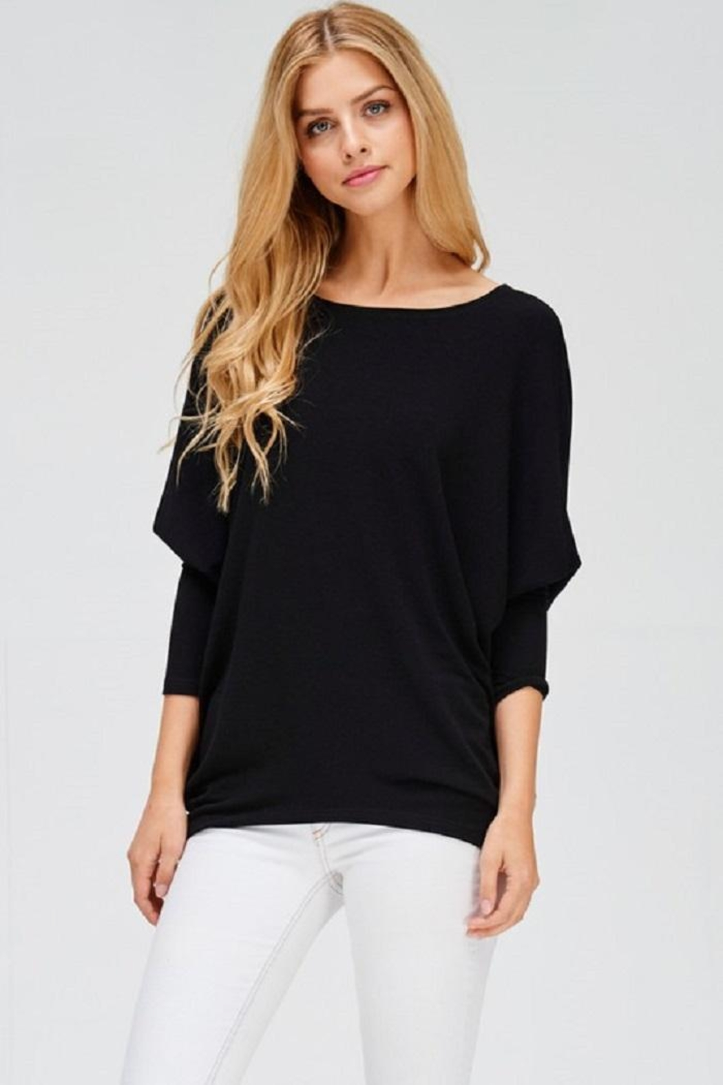 Jolie Oversized Knit Top - Side Cropped Image