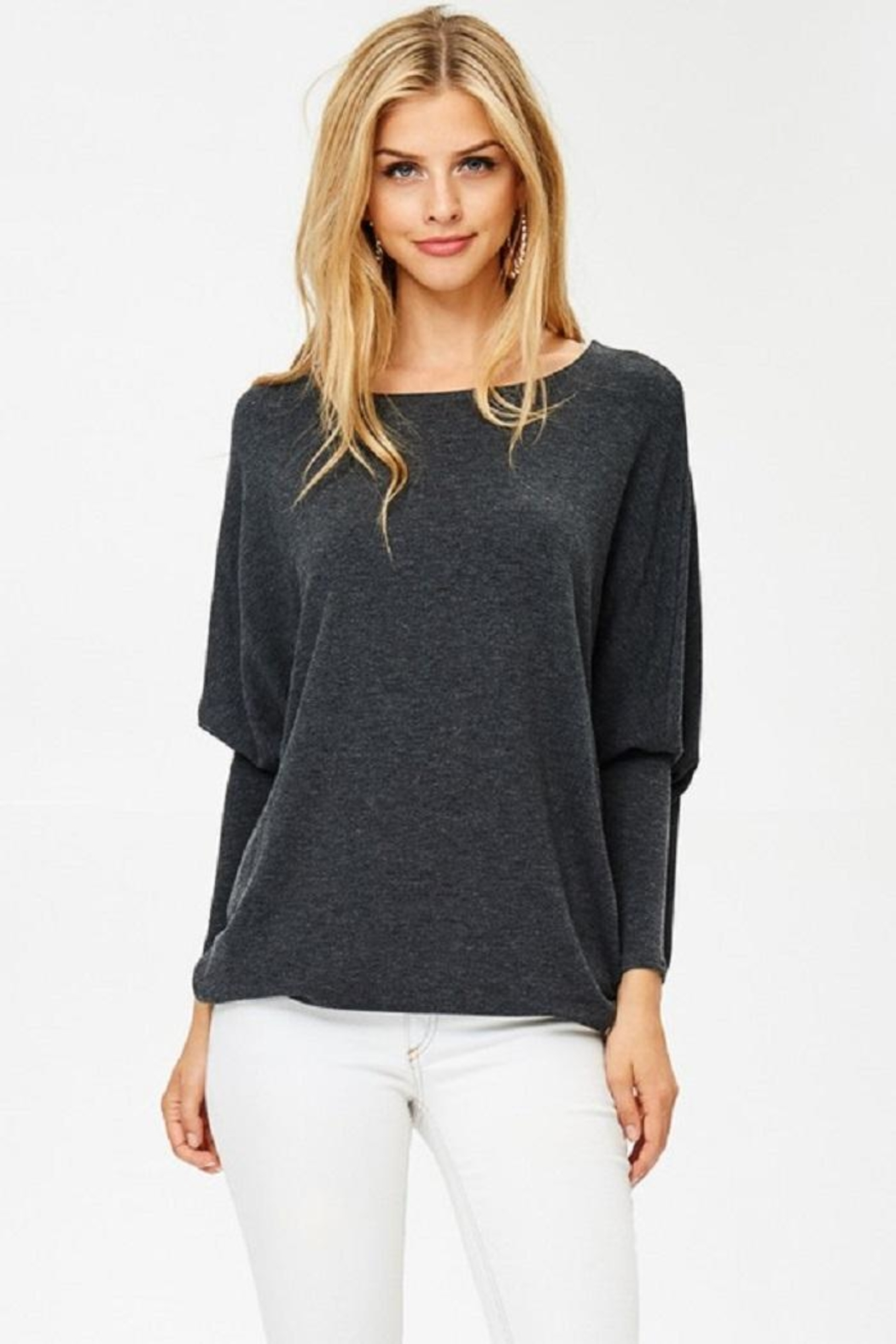Jolie Oversized Knit Top - Front Cropped Image