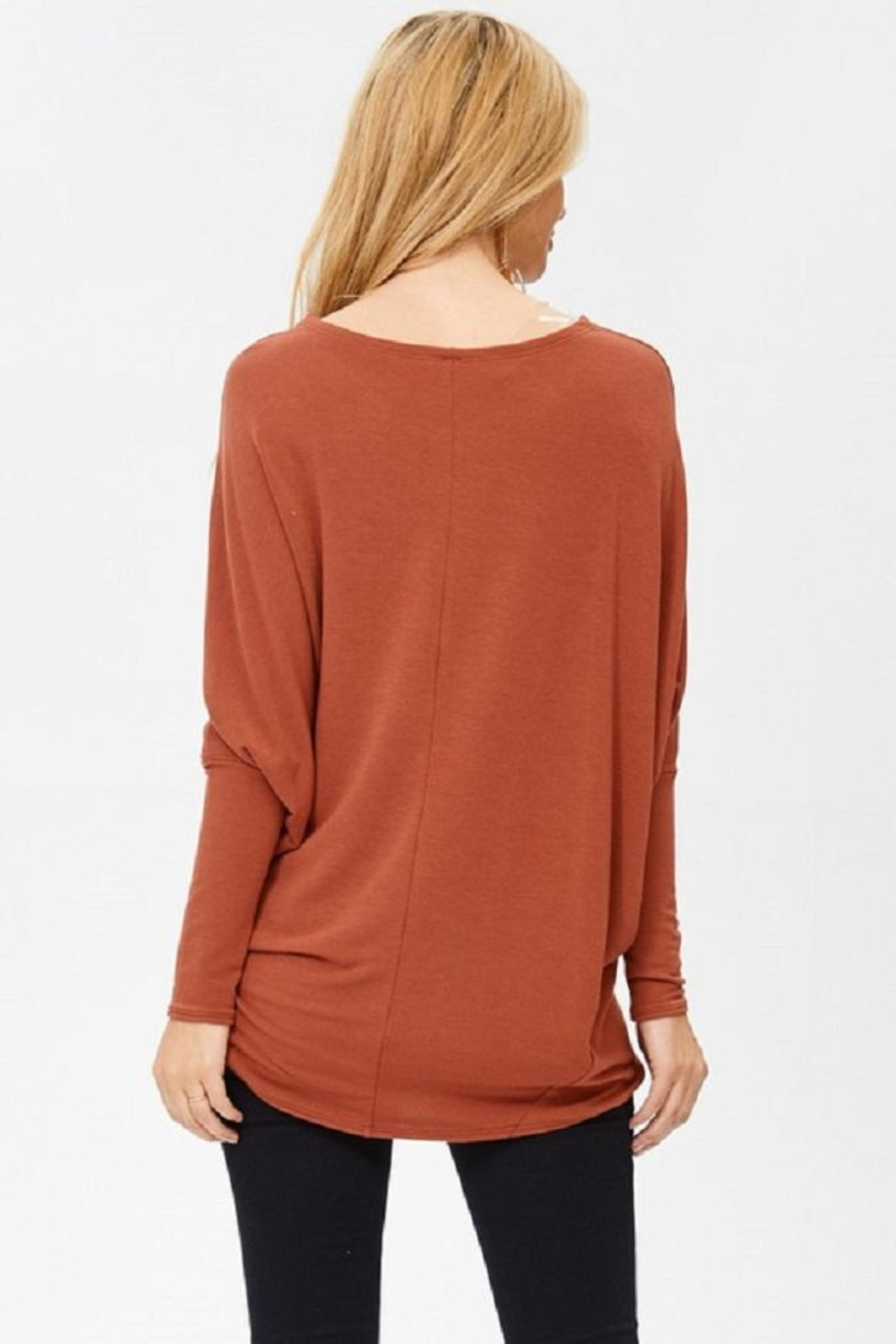 Jolie Oversized Knit Top - Front Full Image