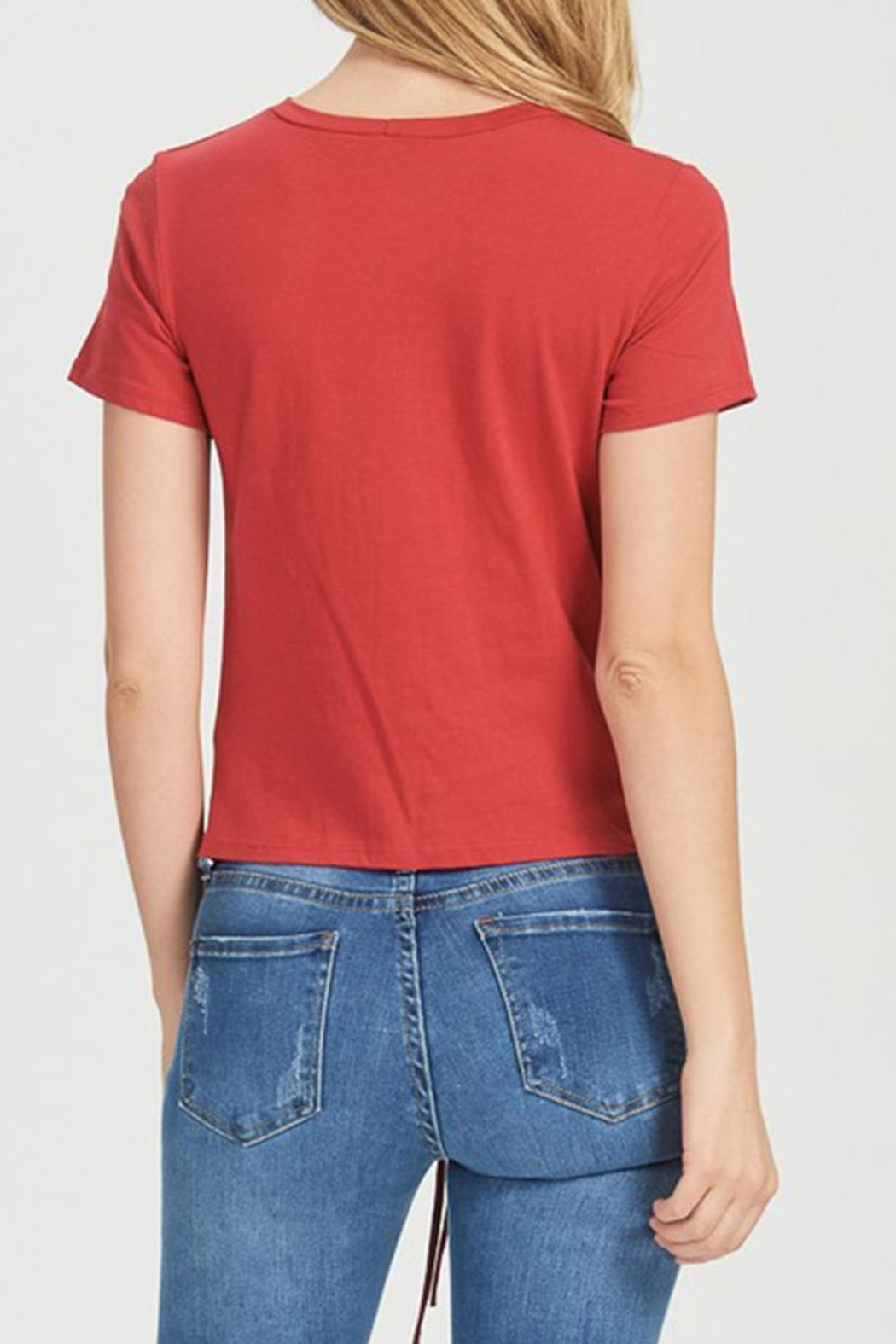Jolie Rouched Tee - Front Full Image
