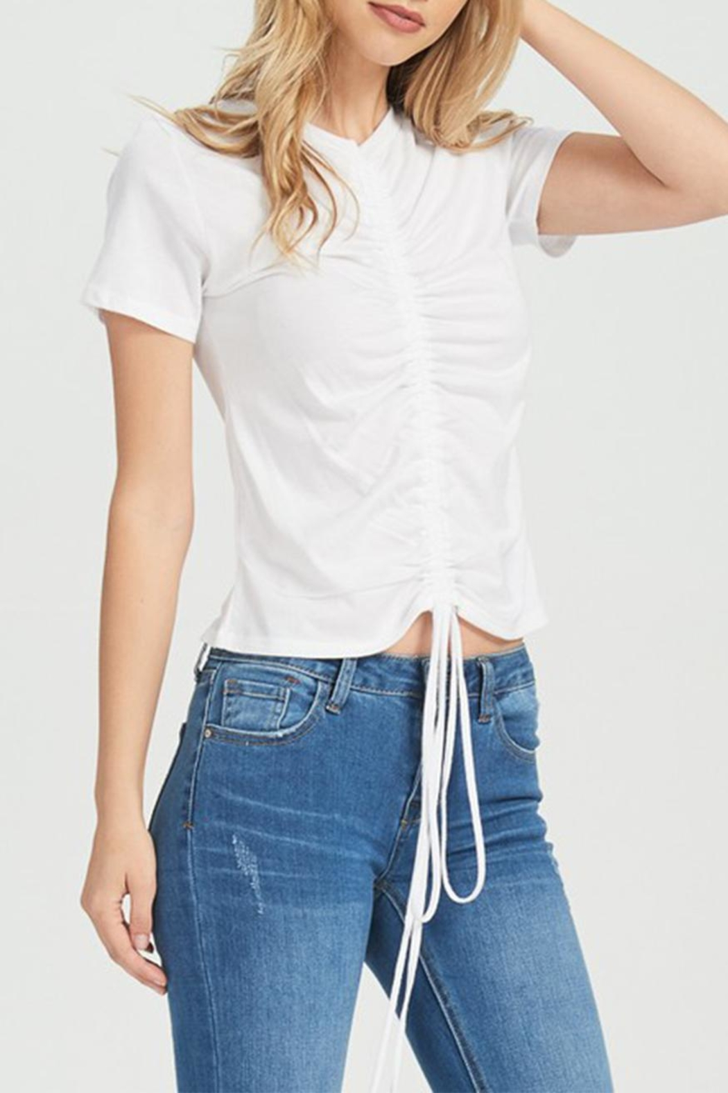 Jolie Rouched Tee - Front Cropped Image