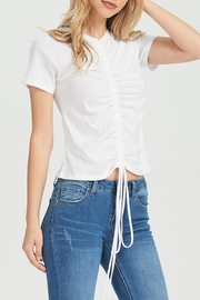 Jolie Rouched Tee - Front cropped