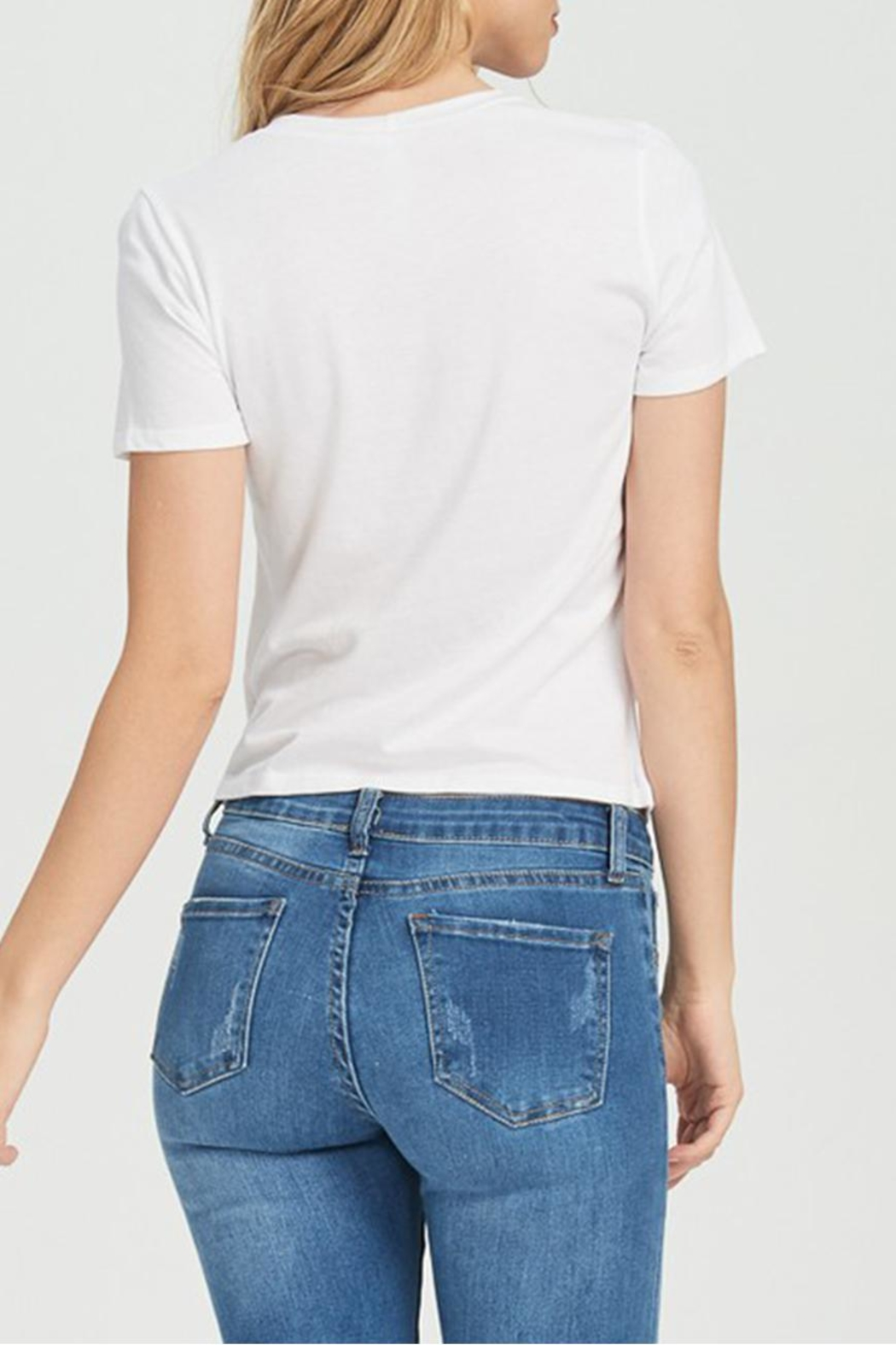 Jolie Rouched Tee - Back Cropped Image