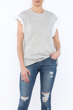Shoptiques Product: Grey Sleeveless Sweater