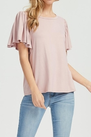 Jolie Ruffle Sleeve Tee - Product Mini Image