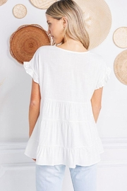 Jolie Ruffle Sleeve Tiered Top - Other