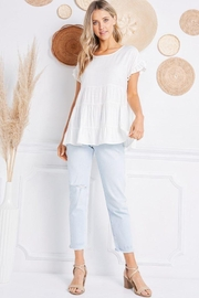 Jolie Ruffle Sleeve Tiered Top - Front cropped