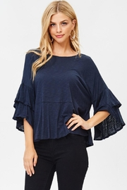Jolie Ruffle Sleeve Top - Product Mini Image