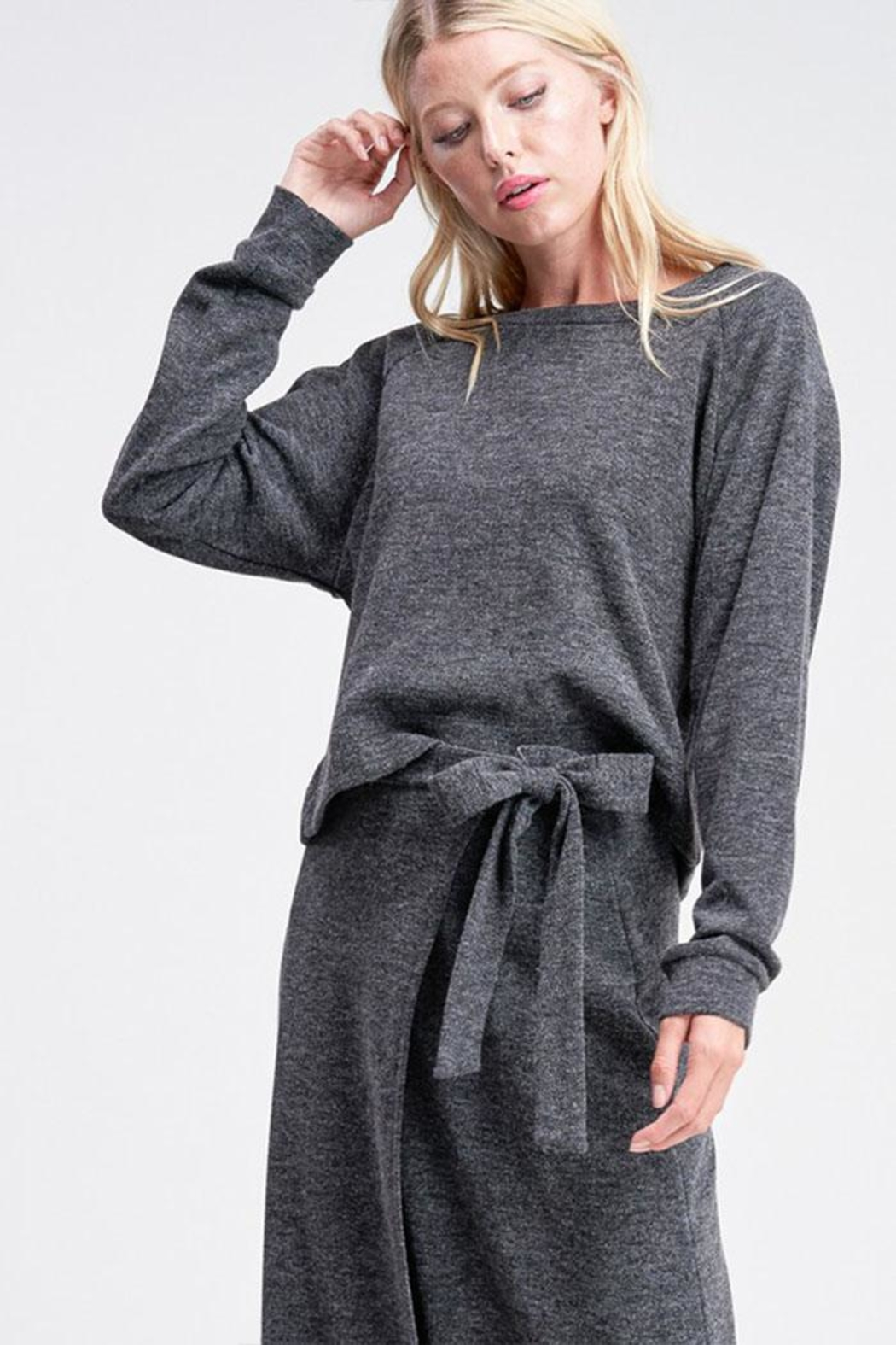 Jolie Pullover Sweater Top - Front Full Image