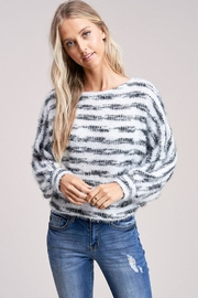 Jolie Stripe Fuzzy Sweater - Product Mini Image