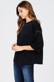 Jolie Stud Detail Sweater - Front full body