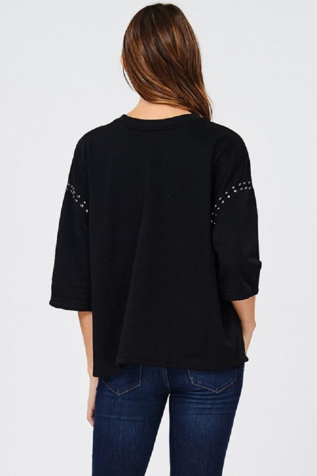 Jolie Stud Detail Sweater - Side Cropped Image