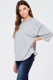 Jolie Stud Detail Sweater - Side cropped