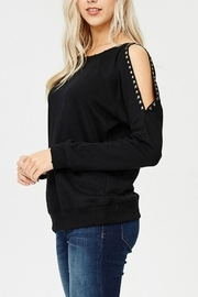 Jolie Studded Sleeve Top - Front full body