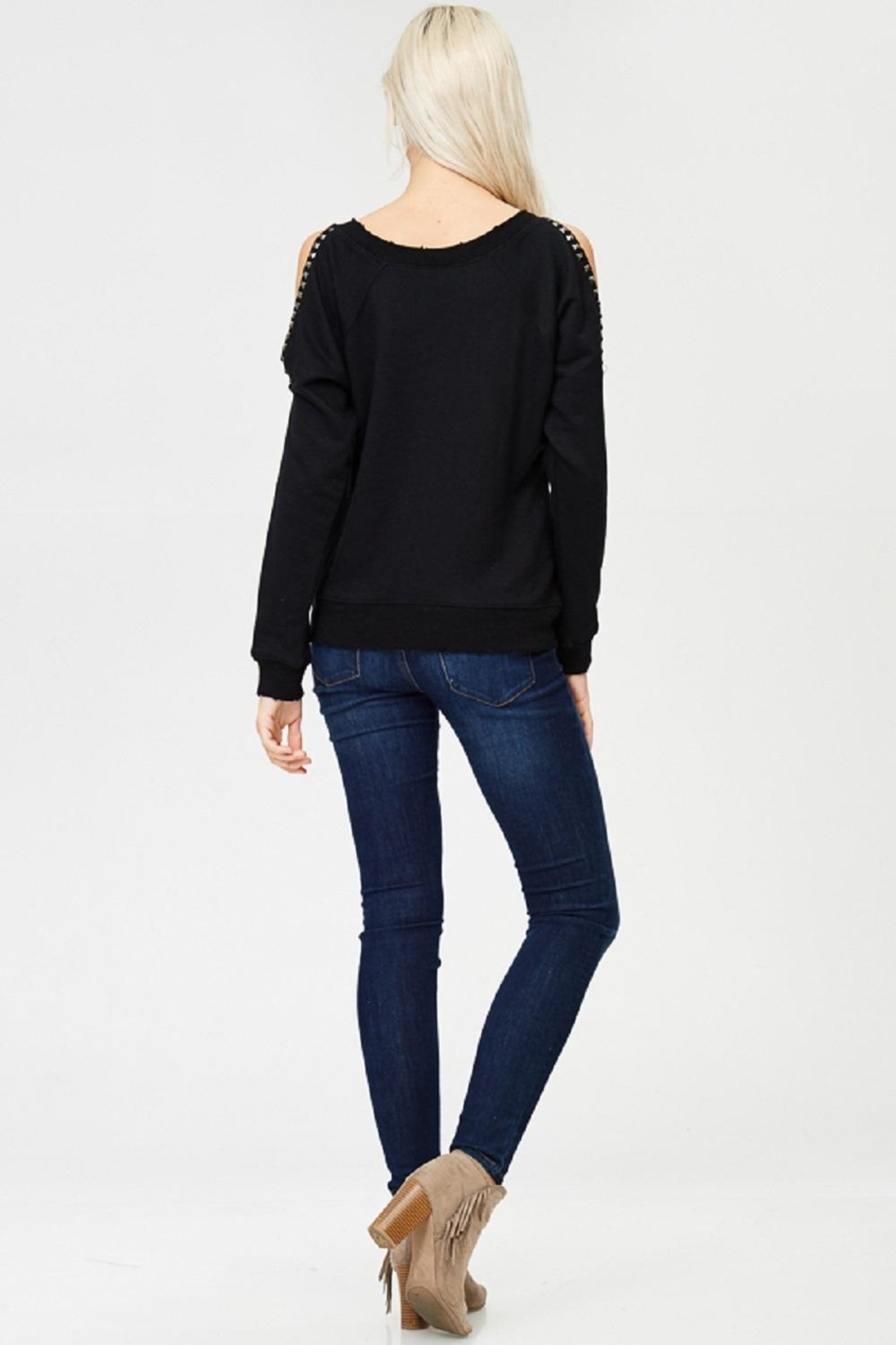 Jolie Studded Sleeve Top - Side Cropped Image