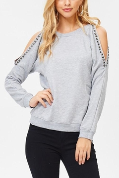 Shoptiques Product: Studded Terry Sweatshirt
