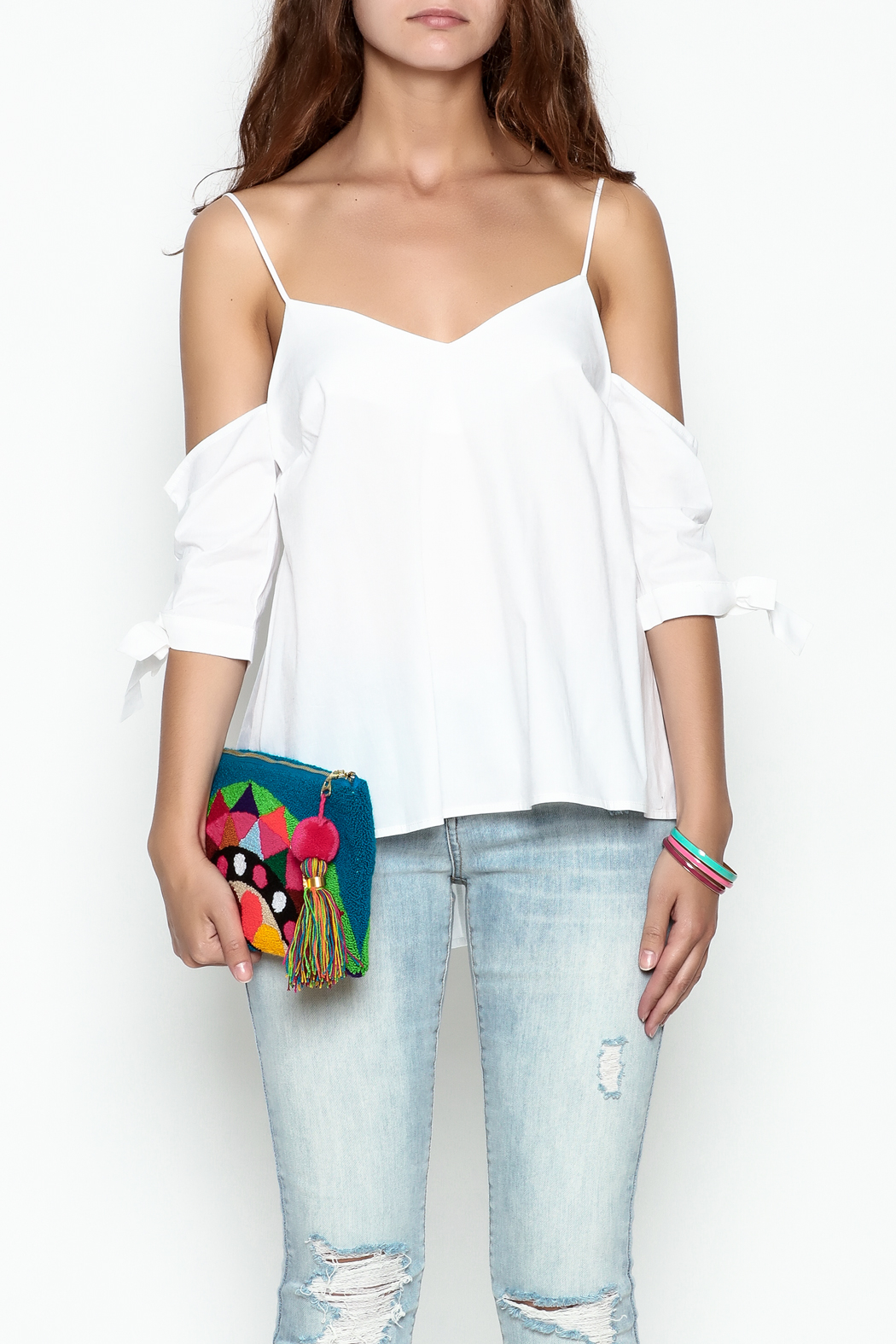 Jolie Tie Sleeve Top - Front Cropped Image
