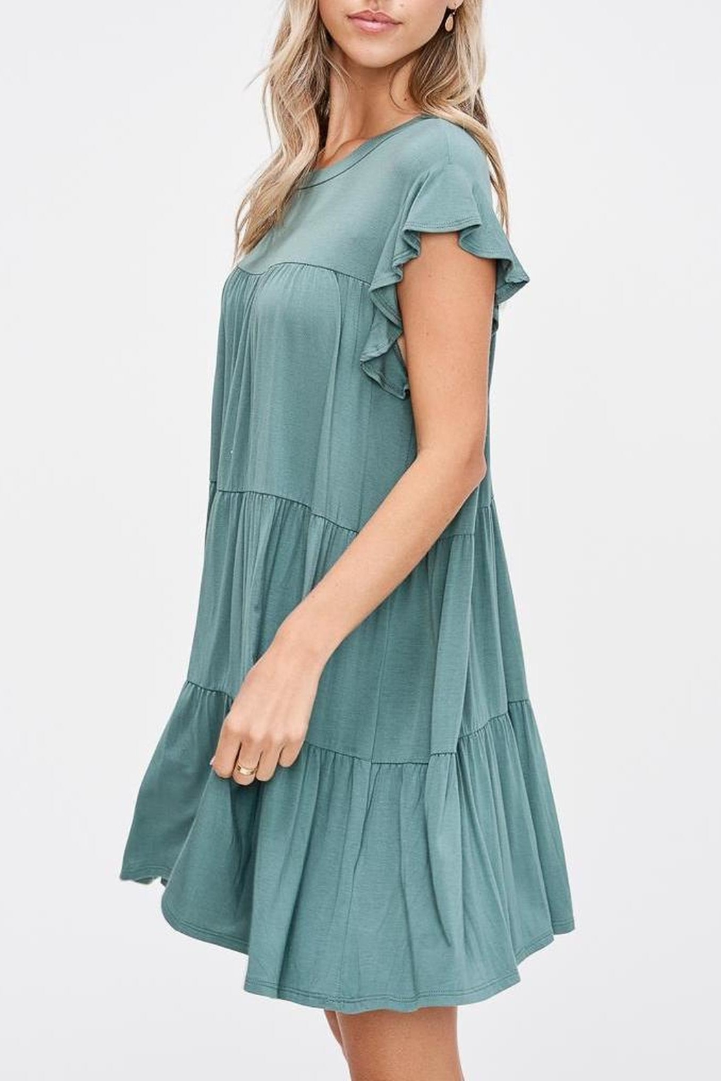 Jolie Tiered Trapeze Dress - Front Full Image