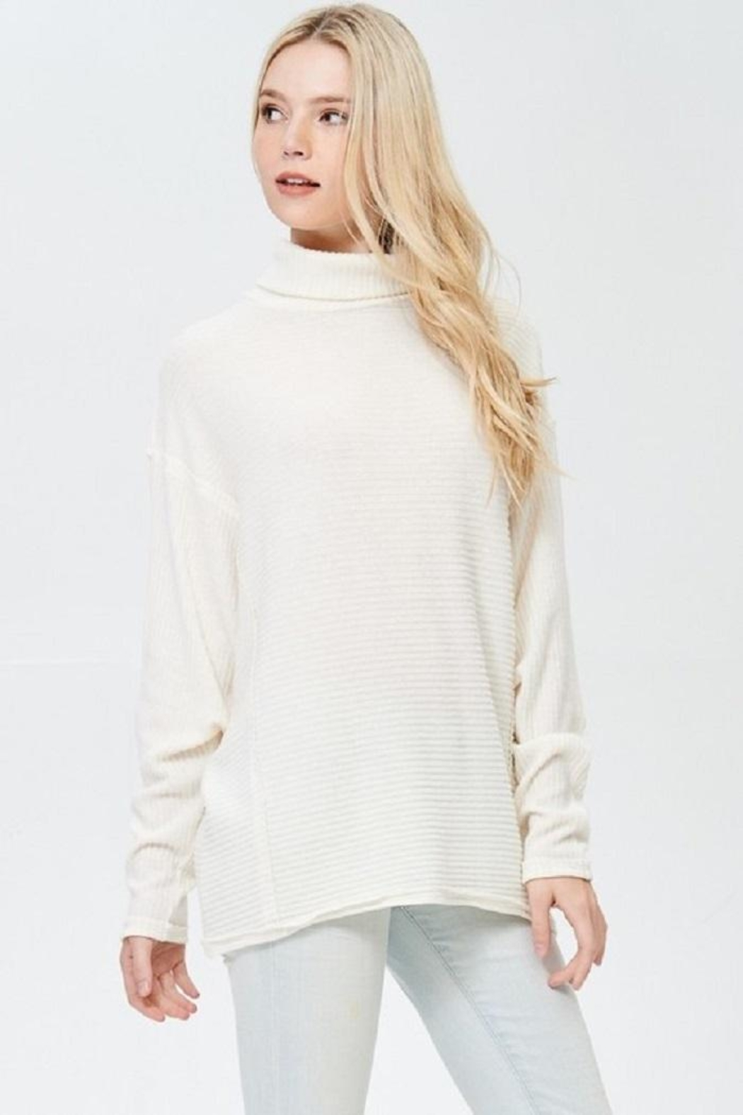 Jolie Turtle Neck Sweater - Side Cropped Image