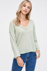 Jolie V-Neck Sweater Top - Product Mini Image