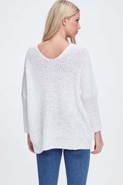 Jolie White Oversized Sweater - Side cropped
