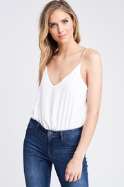 Jolie White Sleeveless Bodysuit - Product Mini Image