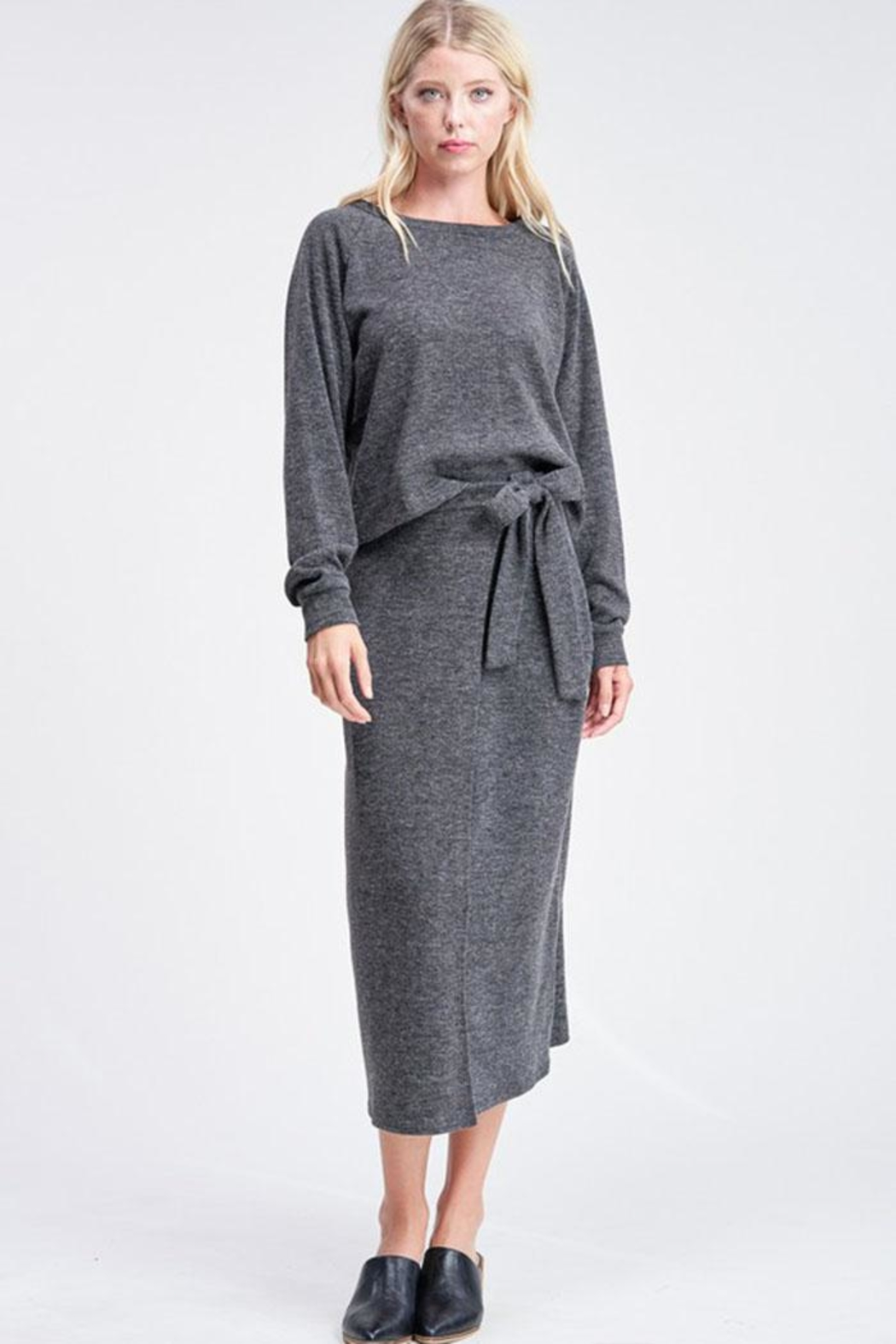 Jolie Wrap Midi Skirt - Front Cropped Image