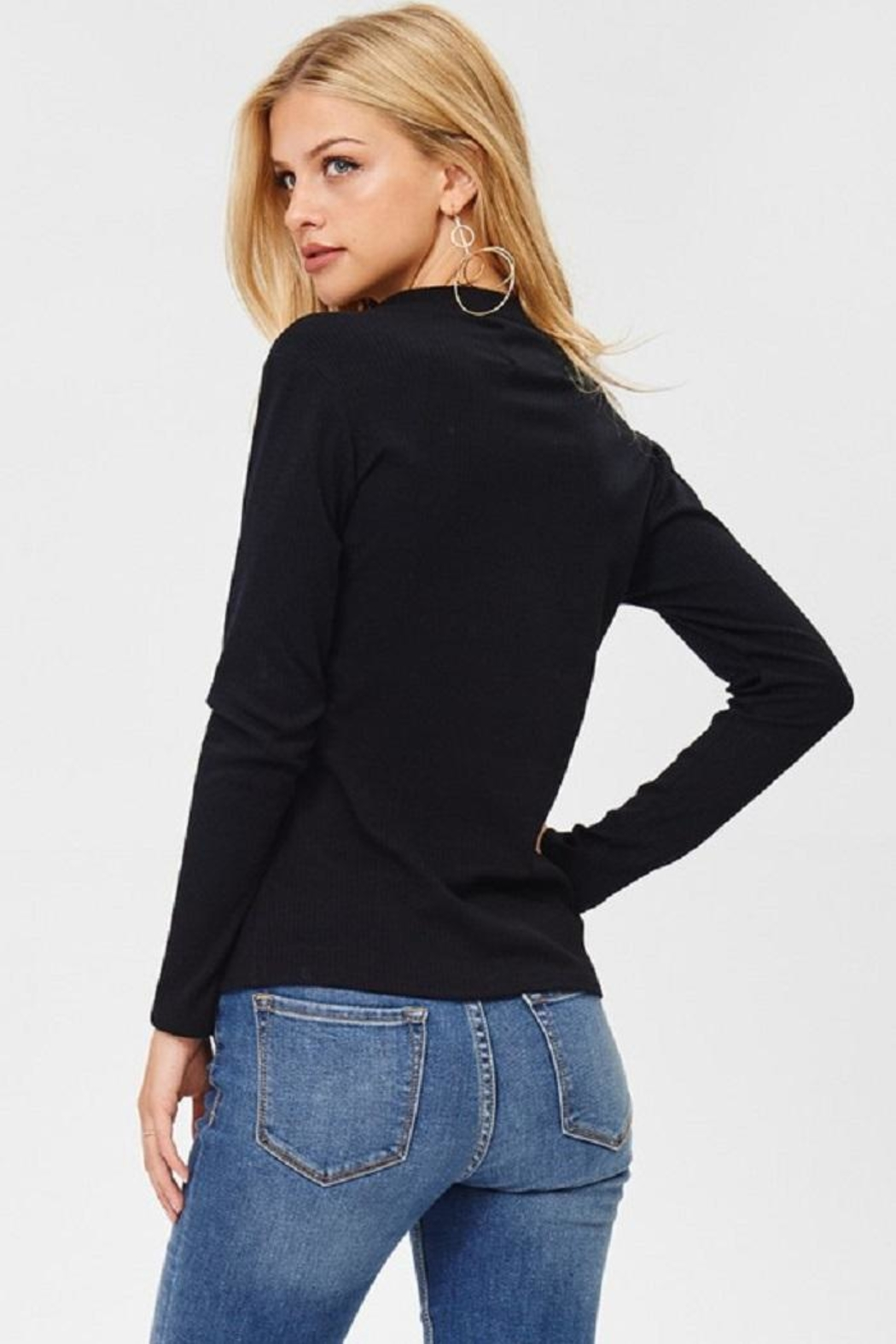 Jolie Zip Front Top - Back Cropped Image