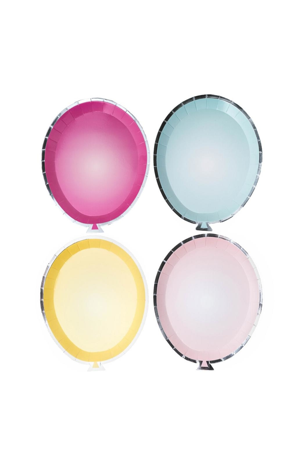 Jollity & Co Balloon Plates Mixed Pack - Main Image