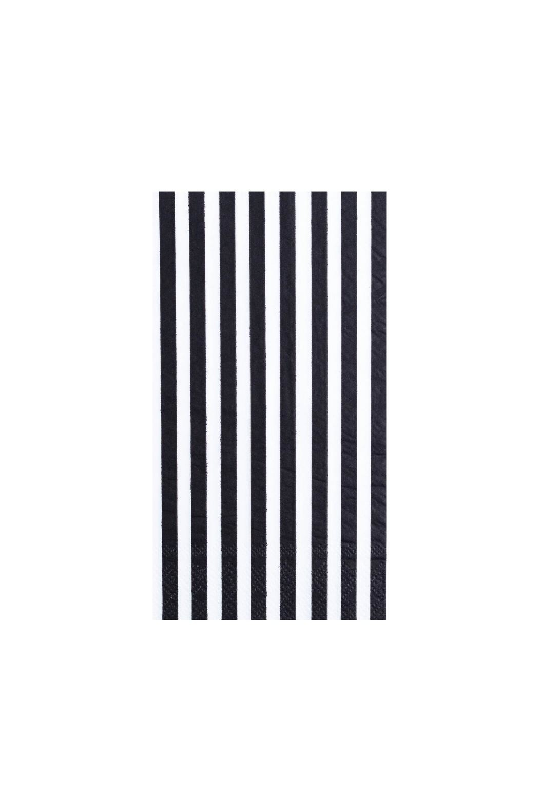Jollity & Co Black & White Striped Guest Napkins - Main Image