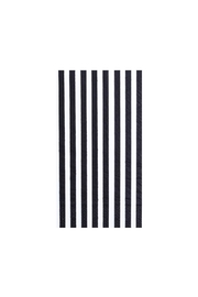Jollity & Co Black & White Striped Guest Napkins - Front cropped