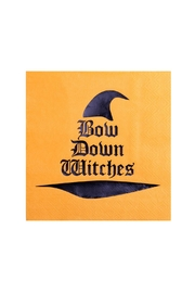 Jollity & Co Bow Down Witches Cocktail Napkins - Front cropped