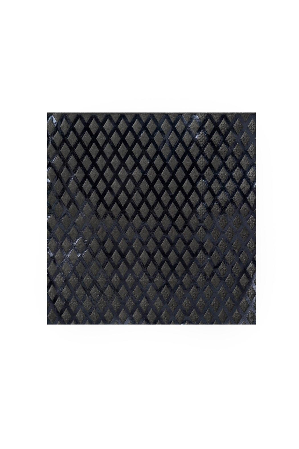 Jollity & Co Embossed Black Foil Cocktail Napkins - Front Cropped Image
