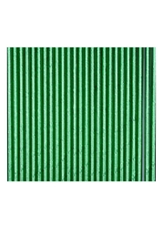 Jollity & Co Foil Paper Straws, Green - Front cropped
