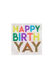 Jollity & Co Happy Birthyay Cocktail Napkins - Front cropped