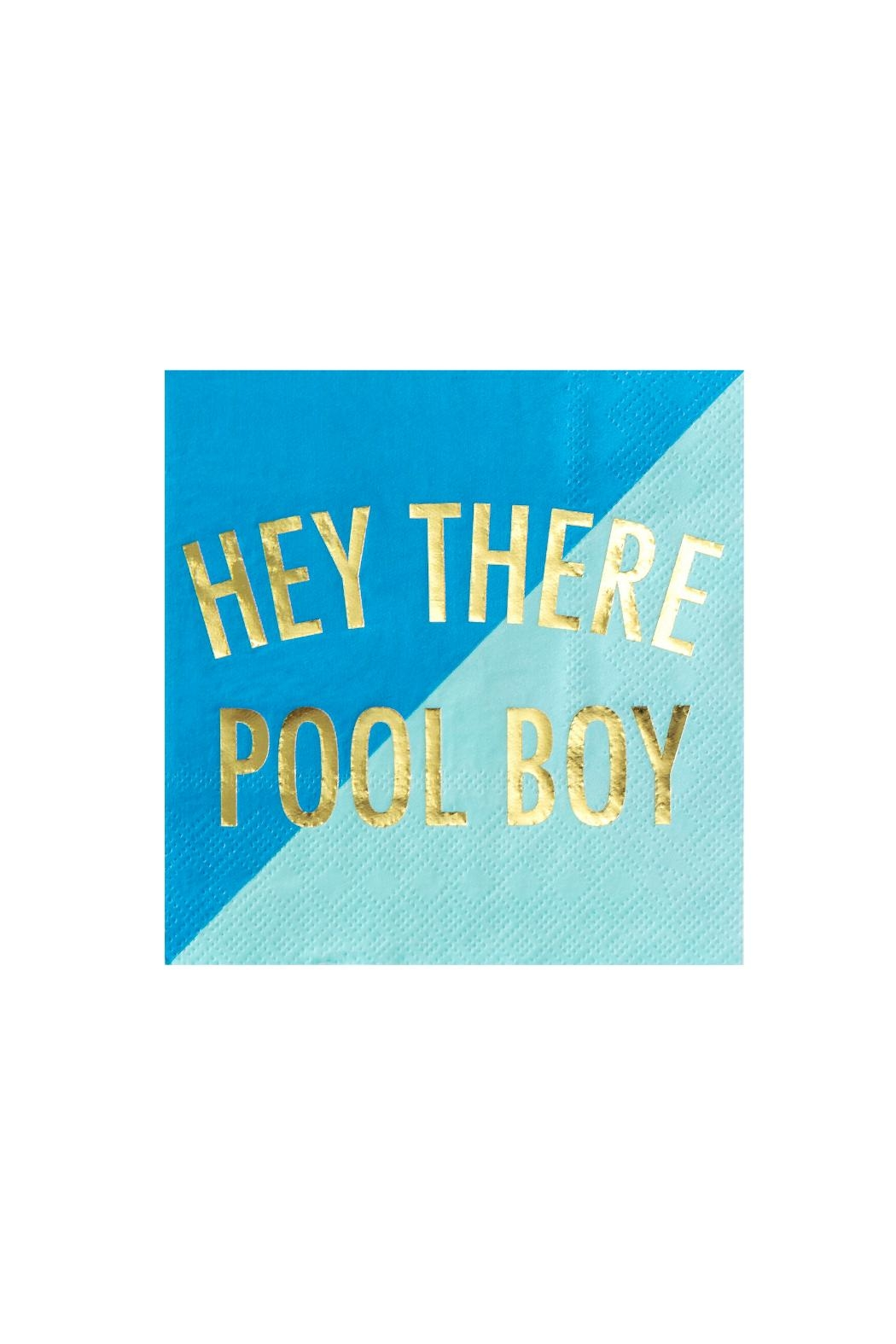 Jollity & Co Hey There Pool Boy Cocktail Napkins - Main Image