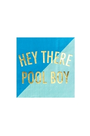 Jollity & Co Hey There Pool Boy Cocktail Napkins - Front cropped