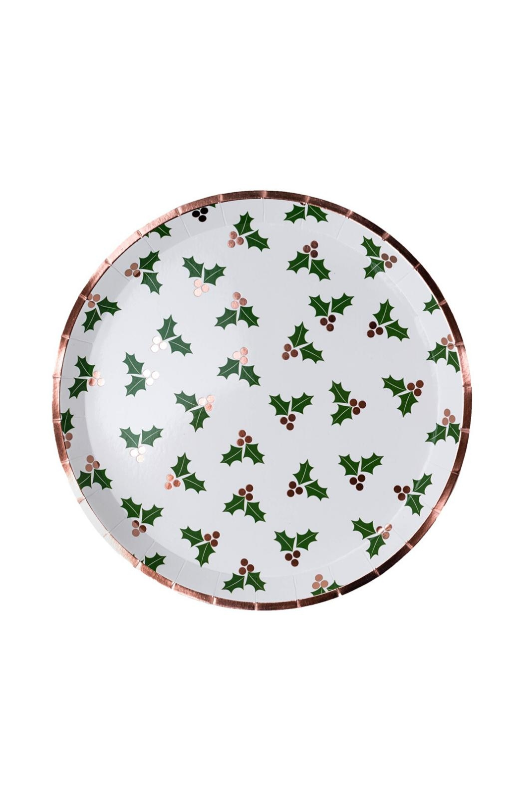 Jollity & Co Holly Dinner Plates - Main Image