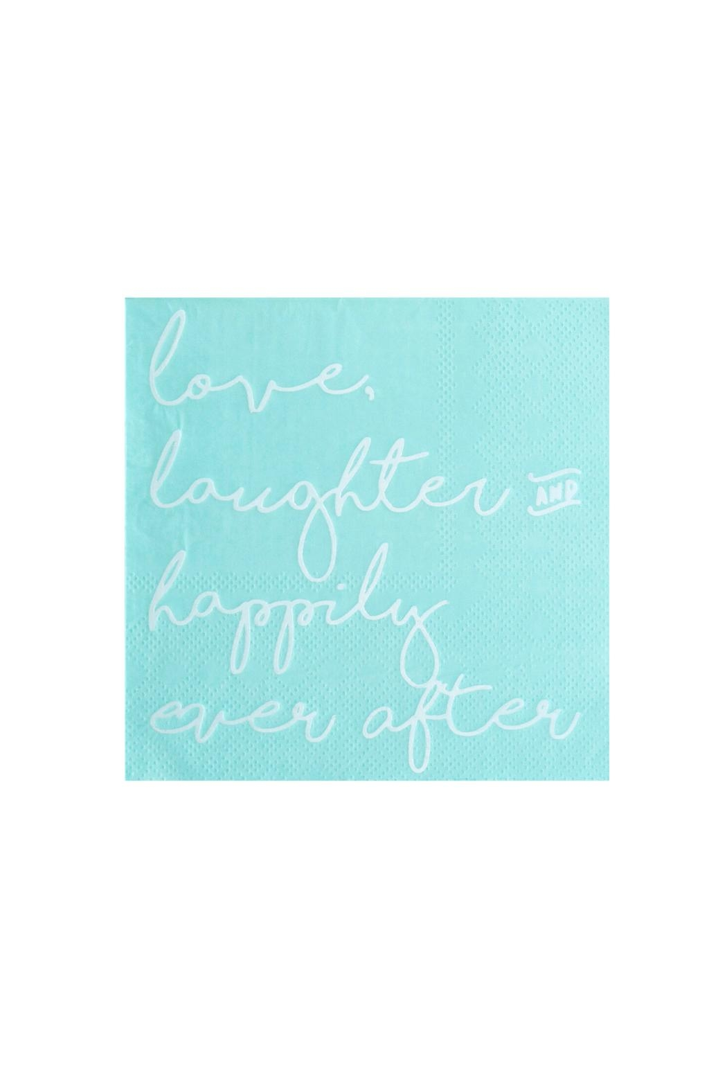 Jollity & Co Love, Laughter & Happily Ever After Cocktail Napkins - Front Cropped Image
